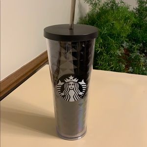 Starbucks 2016 Black Faceted Acrylic Cup NEW
